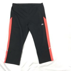 New Balance Running Capri Pants Black/Neon Size L